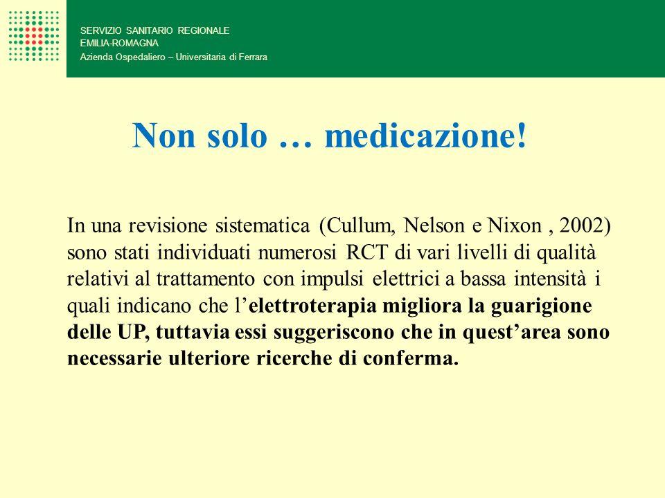 SERVIZIO SANITARIO REGIONALE EMILIA-ROMAGNA Azienda Ospedaliero – Universitaria di Ferrara Non solo … medicazione! In una revisione sistematica (Cullu