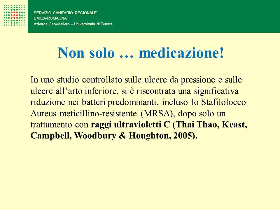SERVIZIO SANITARIO REGIONALE EMILIA-ROMAGNA Azienda Ospedaliero – Universitaria di Ferrara Non solo … medicazione! In uno studio controllato sulle ulc