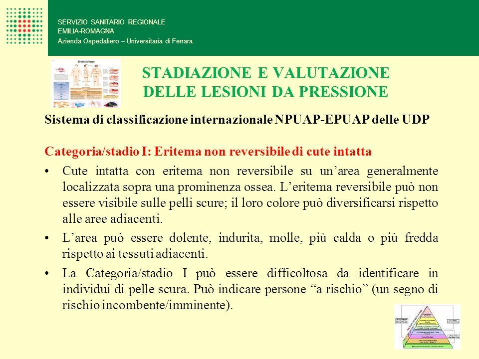 STADIAZIONE E VALUTAZIONE DELLE LESIONI DA PRESSIONE SERVIZIO SANITARIO REGIONALE EMILIA-ROMAGNA Azienda Ospedaliero – Universitaria di Ferrara Sistem