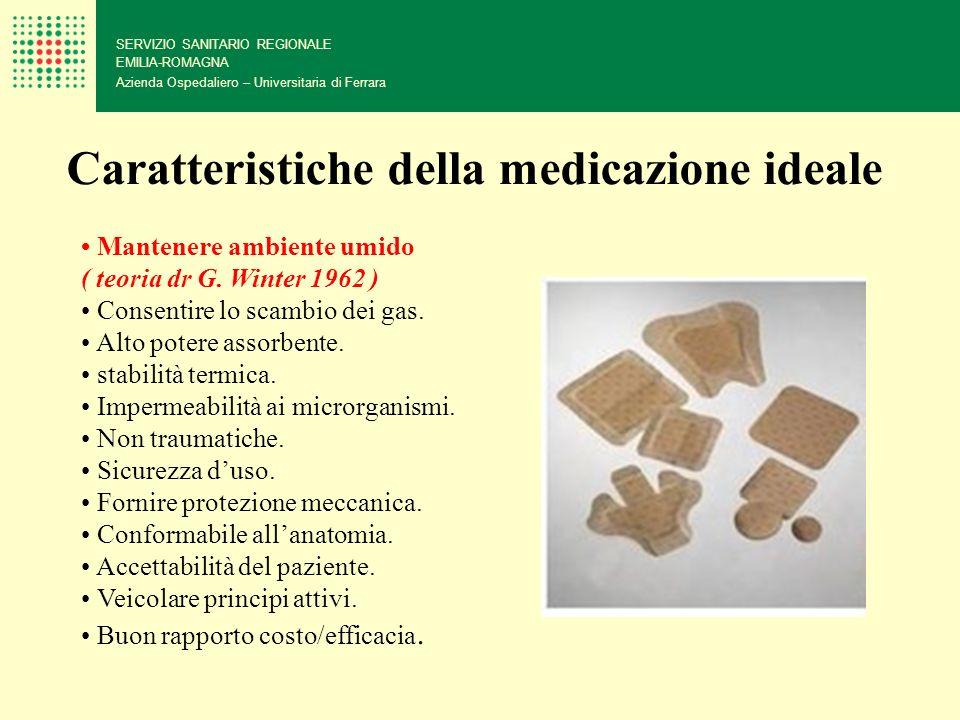 SERVIZIO SANITARIO REGIONALE EMILIA-ROMAGNA Azienda Ospedaliero – Universitaria di Ferrara Caratteristiche della medicazione ideale Mantenere ambiente