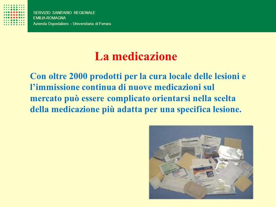 SERVIZIO SANITARIO REGIONALE EMILIA-ROMAGNA Azienda Ospedaliero – Universitaria di Ferrara La medicazione Con oltre 2000 prodotti per la cura locale d