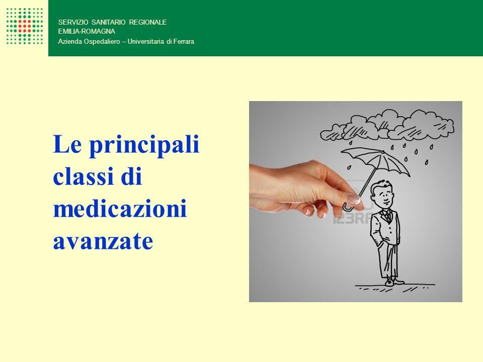 SERVIZIO SANITARIO REGIONALE EMILIA-ROMAGNA Azienda Ospedaliero – Universitaria di Ferrara Le principali classi di medicazioni avanzate