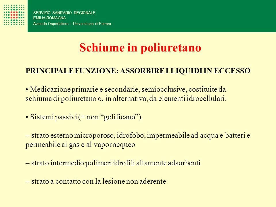 SERVIZIO SANITARIO REGIONALE EMILIA-ROMAGNA Azienda Ospedaliero – Universitaria di Ferrara Schiume in poliuretano PRINCIPALE FUNZIONE: ASSORBIRE I LIQ
