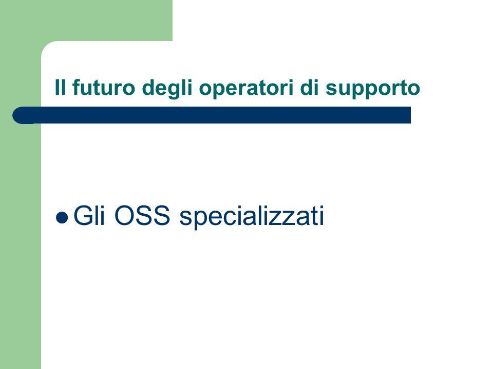 Il futuro degli operatori di supporto Gli OSS specializzati