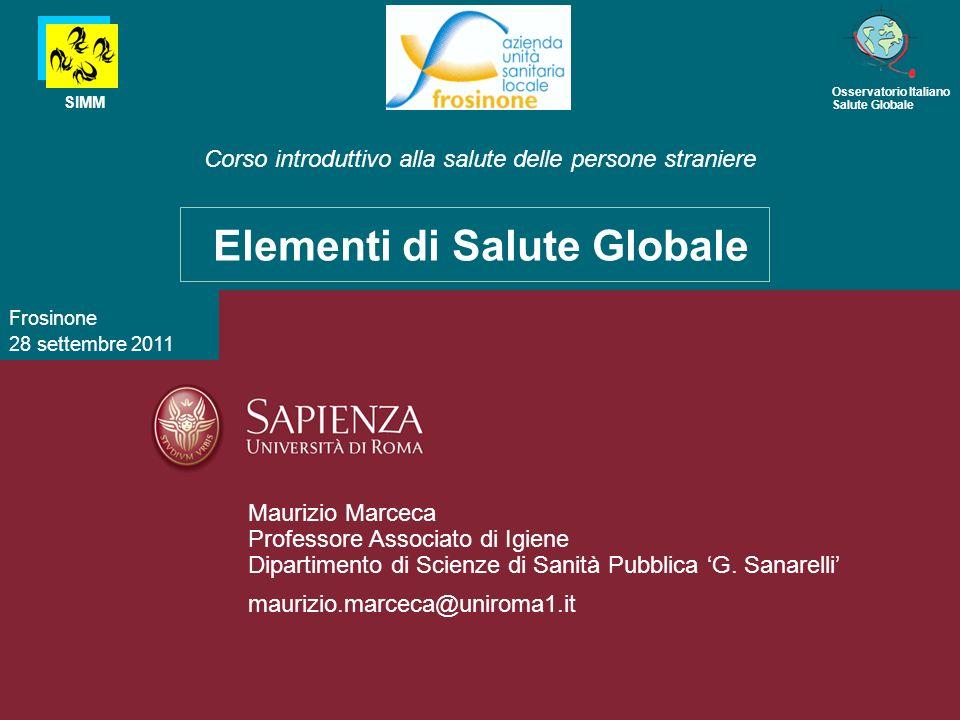 Master in Medicina delle Maurizio Marceca Professore Associato di Igiene Dipartimento di Scienze di Sanità Pubblica G. Sanarelli maurizio.marceca@unir
