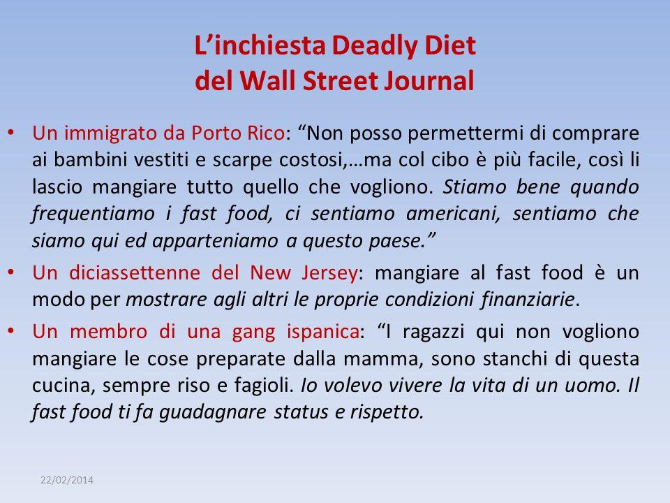 22/02/2014 Linchiesta Deadly Diet del Wall Street Journal Un immigrato da Porto Rico: Non posso permettermi di comprare ai bambini vestiti e scarpe co