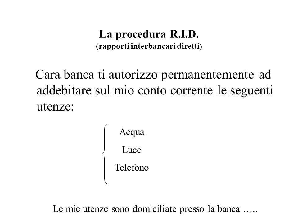 La ricevuta bancaria Impresa creditrice Banca assuntrice Debitore Banca domiciliataria 1 - trasmette le disposizioni dincasso su supporto magnetico 2