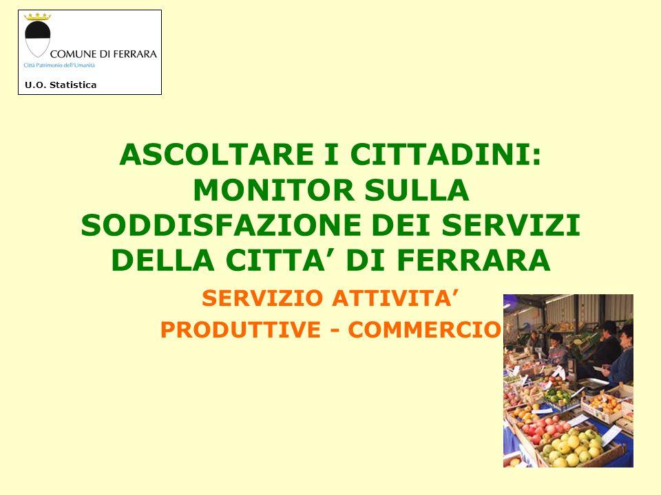 IL SERVIZIO ATTIVITA PRODUTTIVE -COMMERCIO Presso il servizio A.P.