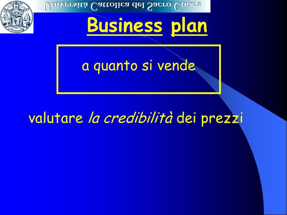 Business plan a quanto si vende valutare la credibilità dei prezzi A quanto si vende