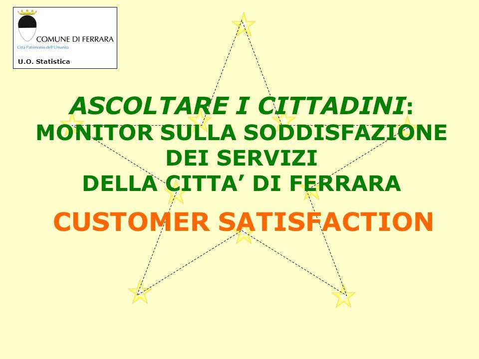 La Customer Satisfaction (Soddisfazione del Cliente) è unindagine svolta per analizzare il rapporto esistente tra il Comune e i Cittadini.