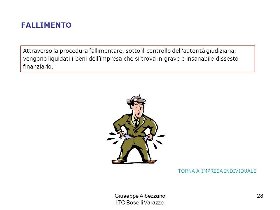 Giuseppe Albezzano ITC Boselli Varazze 28 FALLIMENTO Attraverso la procedura fallimentare, sotto il controllo dellautorità giudiziaria, vengono liquid
