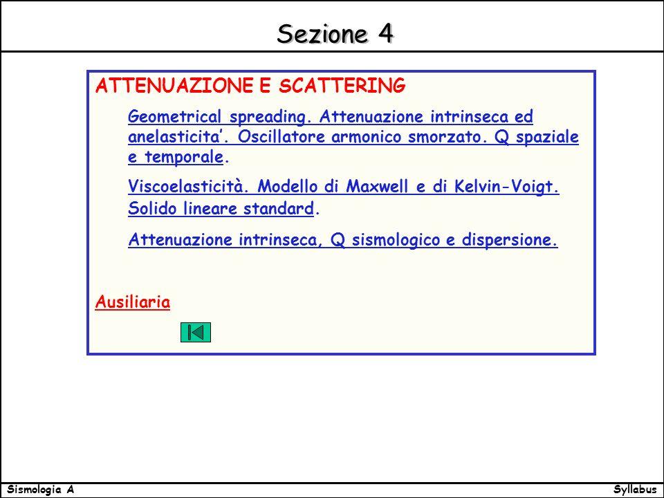 SyllabusSismologia A Sezione 4 ATTENUAZIONE E SCATTERING Geometrical spreading.