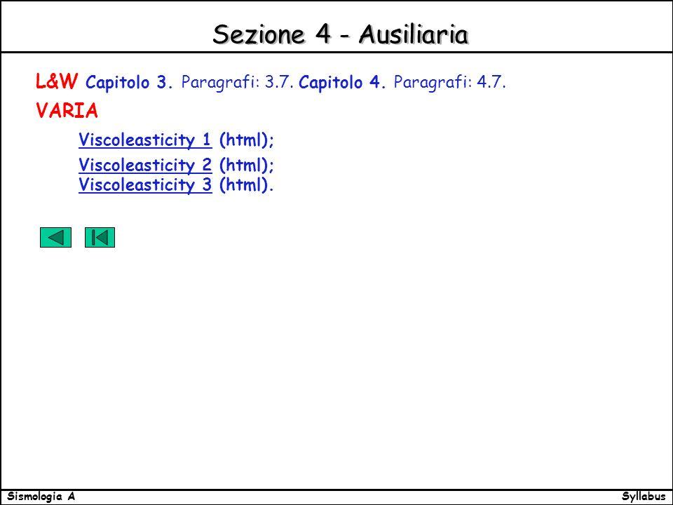 SyllabusSismologia A Sezione 4 - Ausiliaria L&W Capitolo 3.