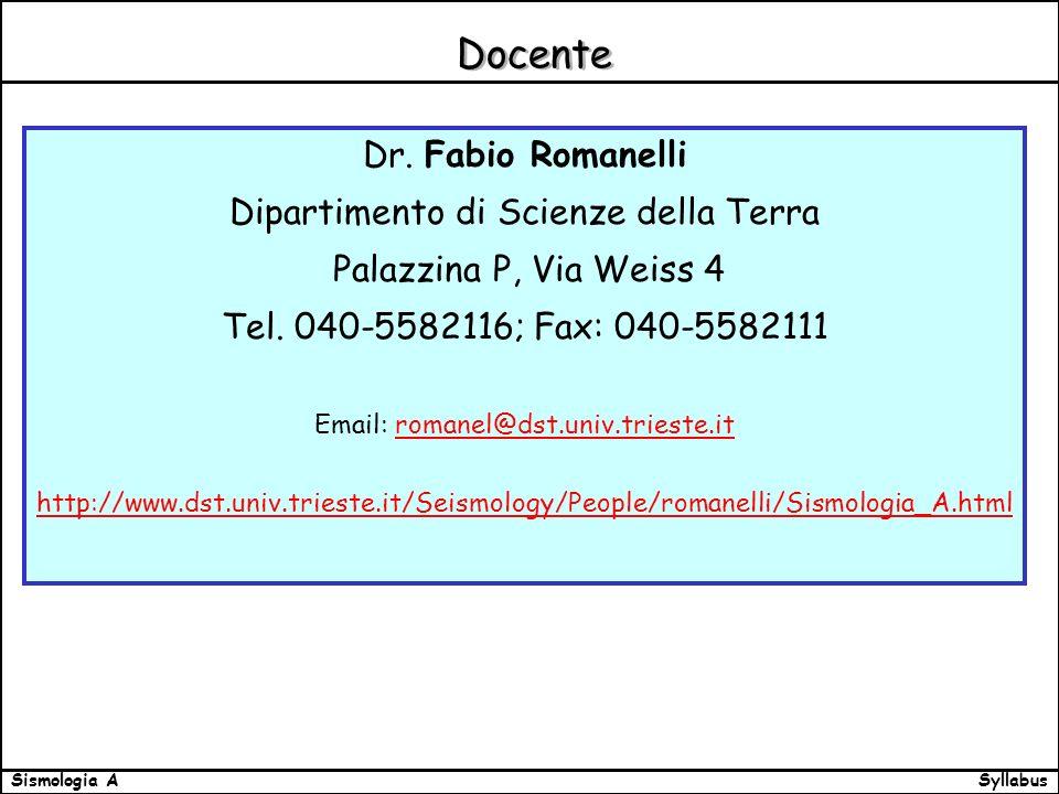 SyllabusSismologia A Docente Dr.