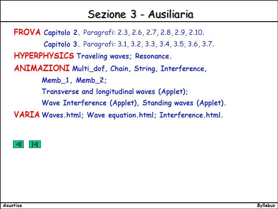 SyllabusAcustica Sezione 3 - Ausiliaria FROVA Capitolo 2.