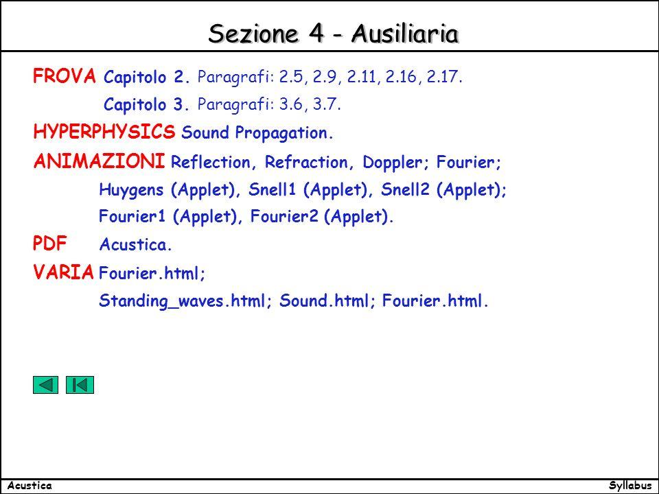 SyllabusAcustica Sezione 4 - Ausiliaria FROVA Capitolo 2.