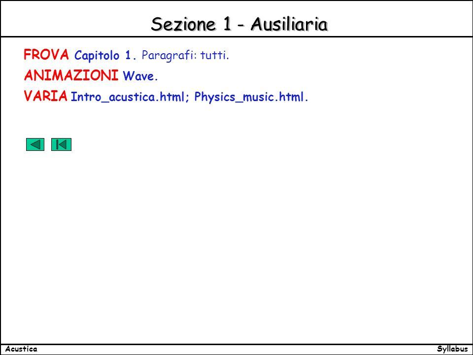 SyllabusAcustica Sezione 1 - Ausiliaria FROVA Capitolo 1.