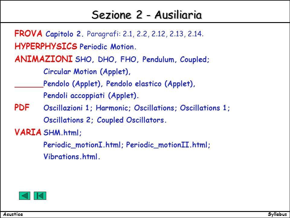 SyllabusAcustica Sezione 2 - Ausiliaria FROVA Capitolo 2.