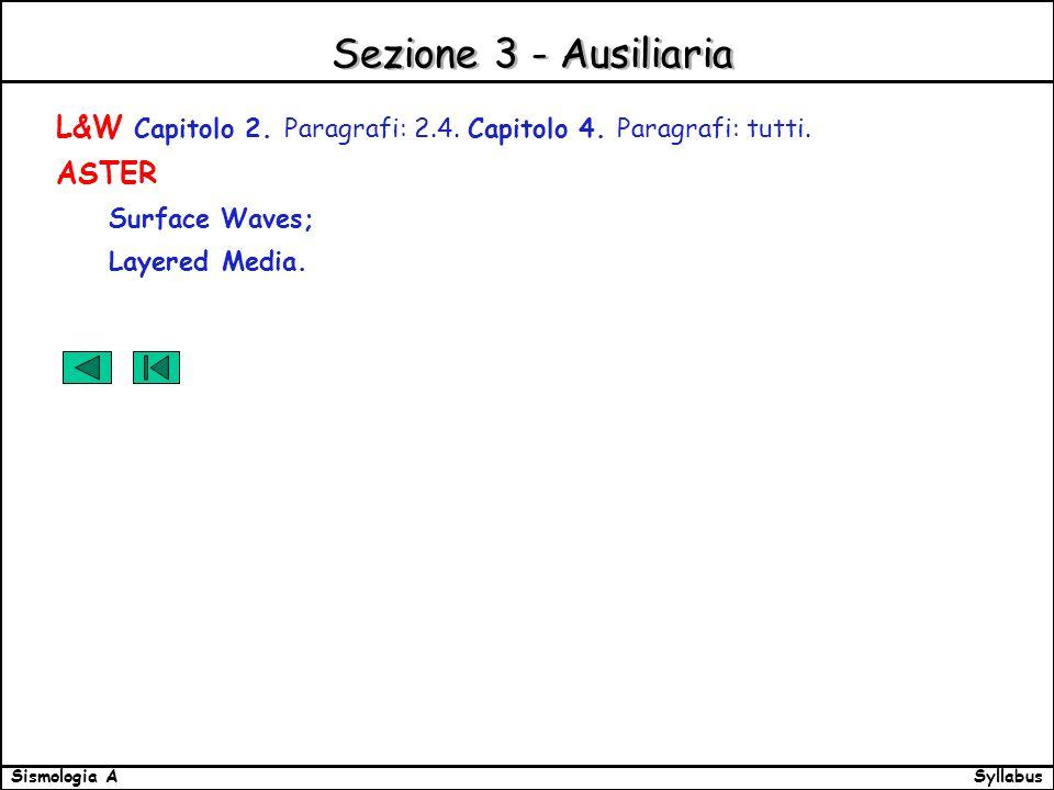 SyllabusSismologia A Sezione 3 - Ausiliaria L&W Capitolo 2.