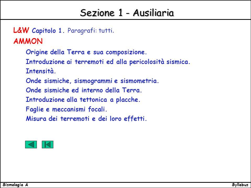 SyllabusSismologia A Sezione 1 - Ausiliaria L&W Capitolo 1.
