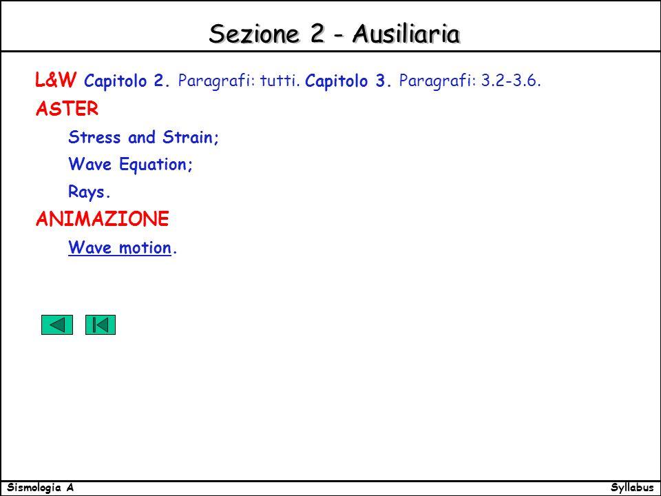 SyllabusSismologia A Sezione 2 - Ausiliaria L&W Capitolo 2.