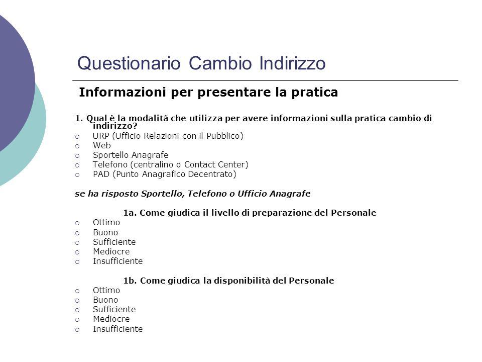 Questionario Cambio Indirizzo 1.