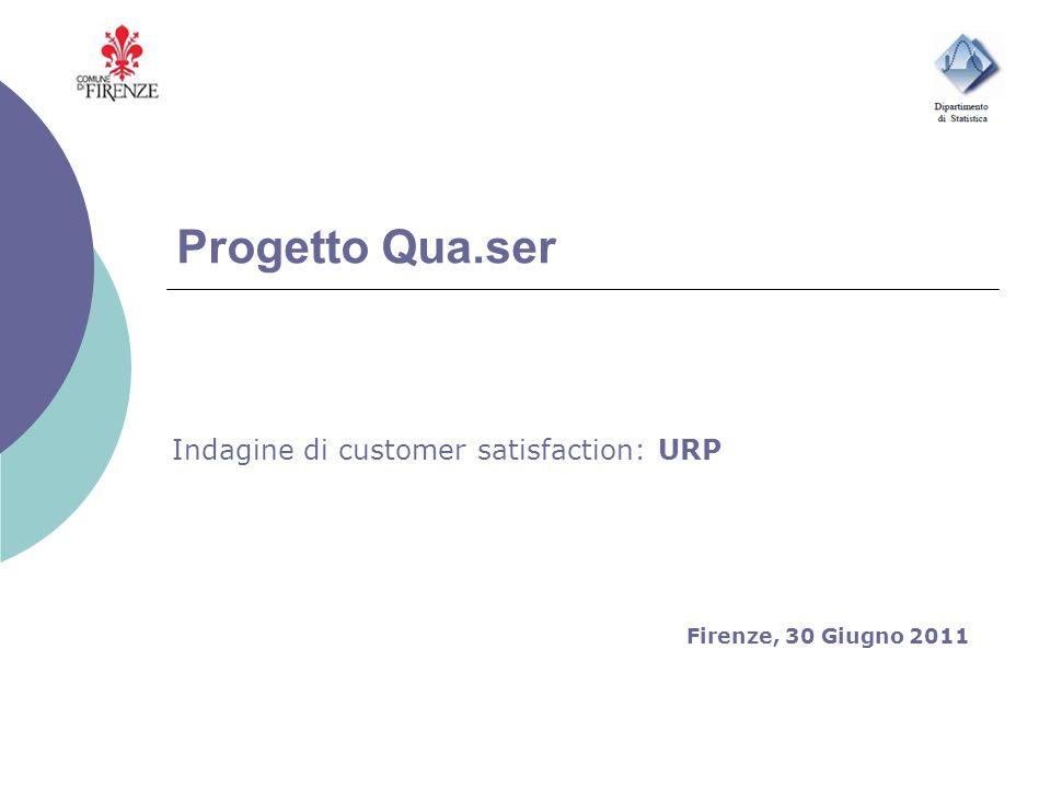 Progetto Qua.ser Indagine di customer satisfaction: URP Firenze, 30 Giugno 2011