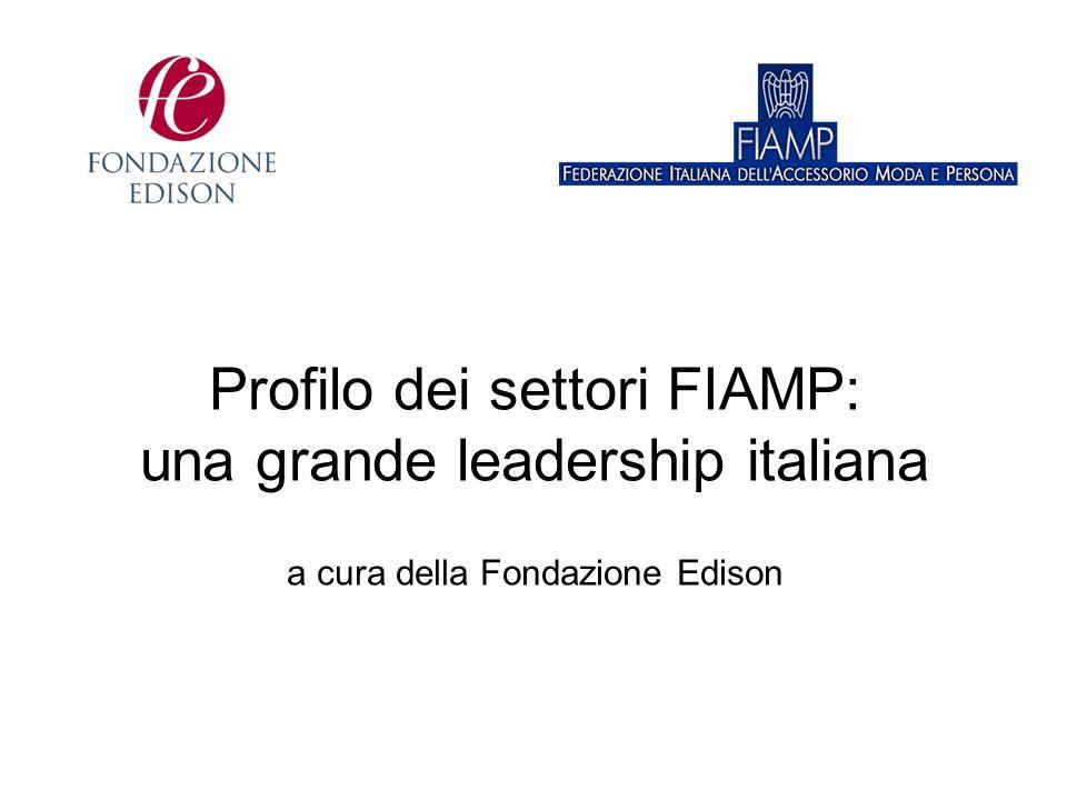 Profilo dei settori FIAMP: una grande leadership italiana a cura della Fondazione Edison