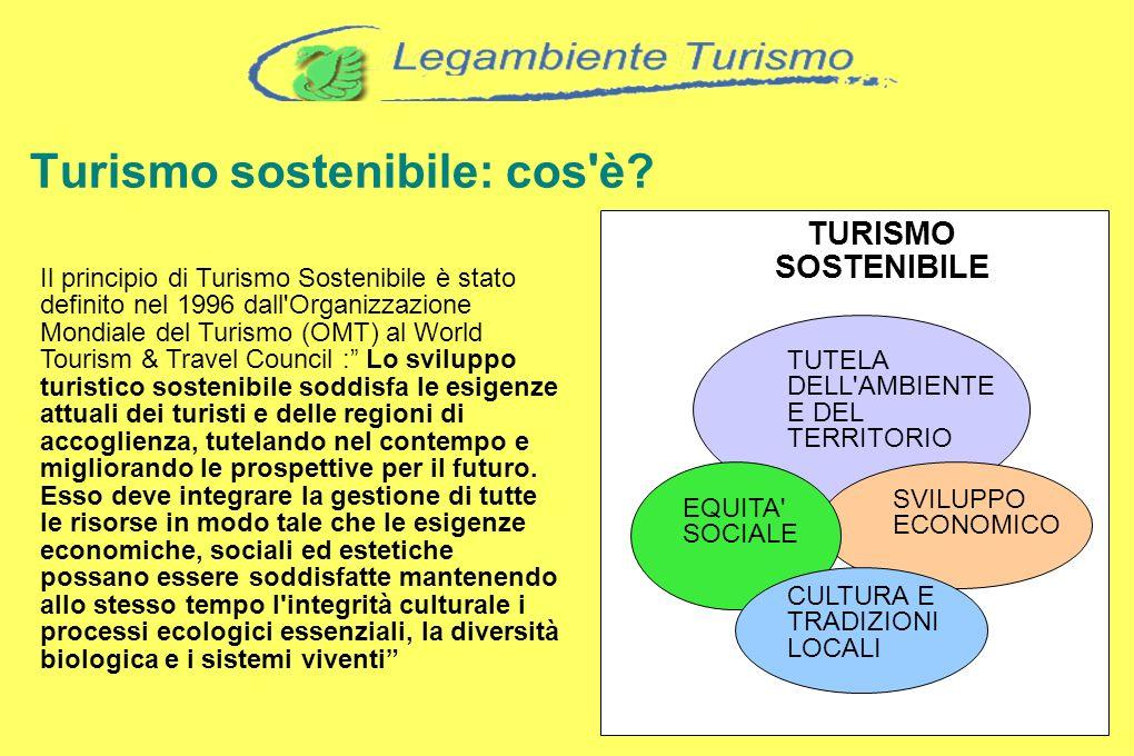 Turismo sostenibile: cos'è? Il principio di Turismo Sostenibile è stato definito nel 1996 dall'Organizzazione Mondiale del Turismo (OMT) al World Tour
