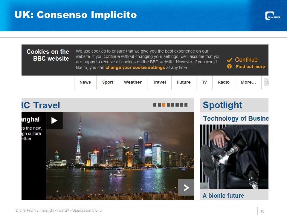UK: Consenso Implicito 10 Digital Frontrunners: chi vincerà – Giangiacomo Olivi