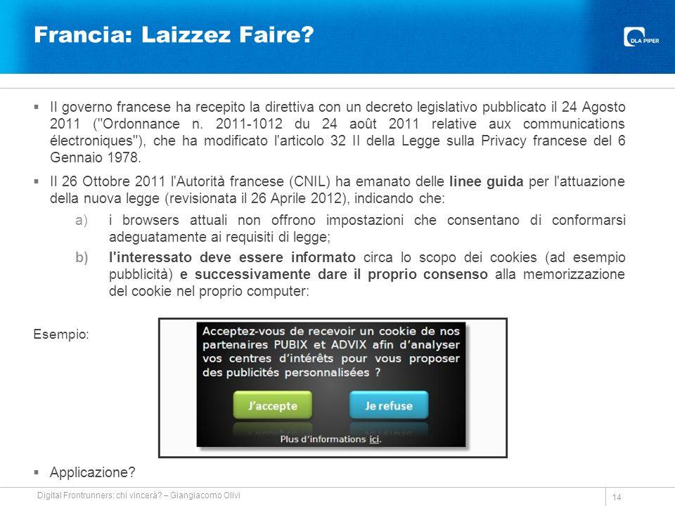 Francia: Laizzez Faire.