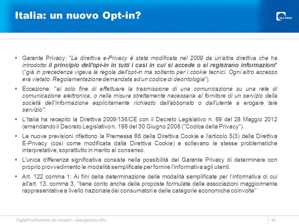 Italia: un nuovo Opt-in.