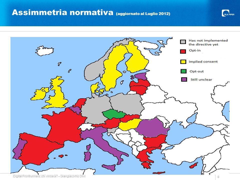 Assimmetria normativa (aggiornato al Luglio 2012) 8 Digital Frontrunners: chi vincerà.