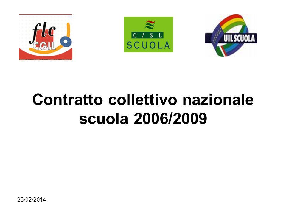 23/02/2014 Contratto collettivo nazionale scuola 2006/2009