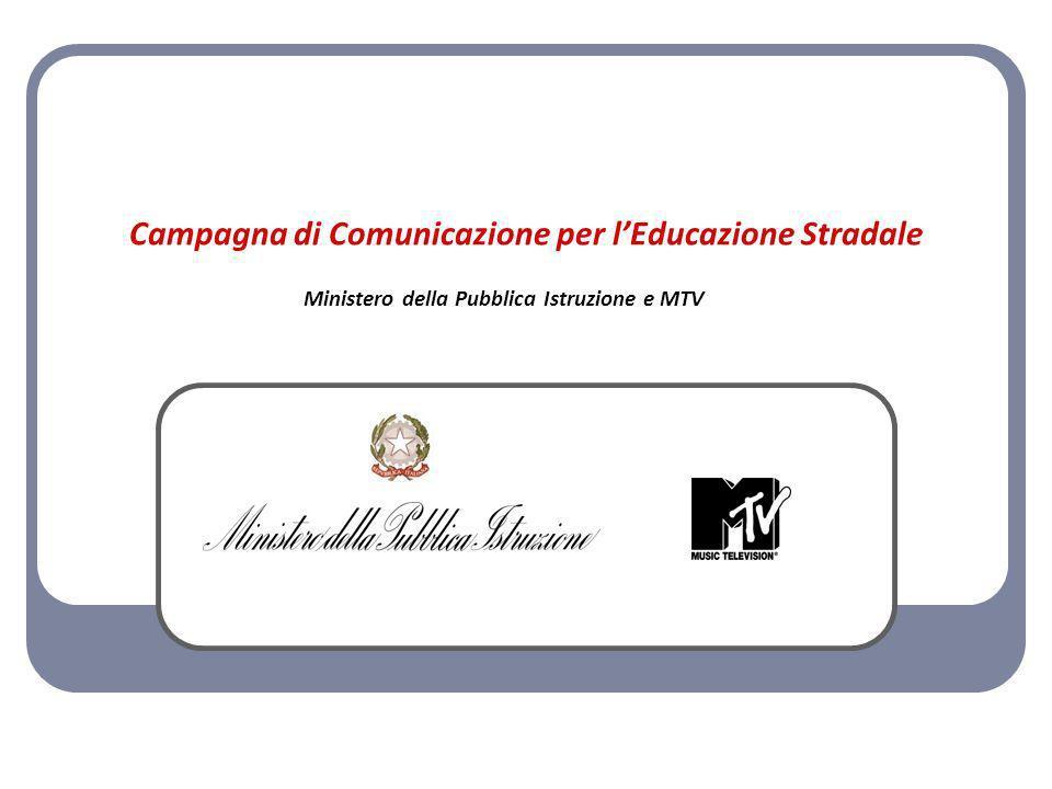 Campagna di Comunicazione per lEducazione Stradale Ministero della Pubblica Istruzione e MTV