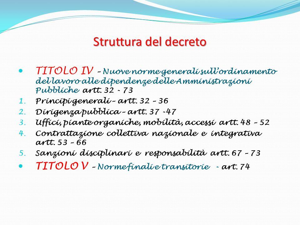 D.Lvo 150/2009 54 Titolo IV, Capo III (art.