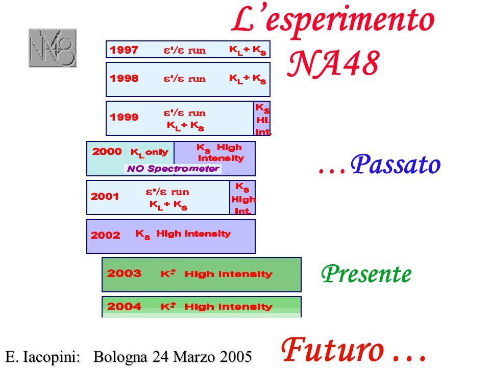 Lesperimento NA48 E. Iacopini: Bologna 24 Marzo 2005 …Passato Presente Futuro …