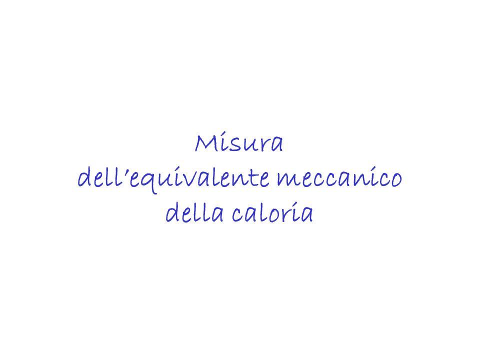Misura dellequivalente meccanico della caloria