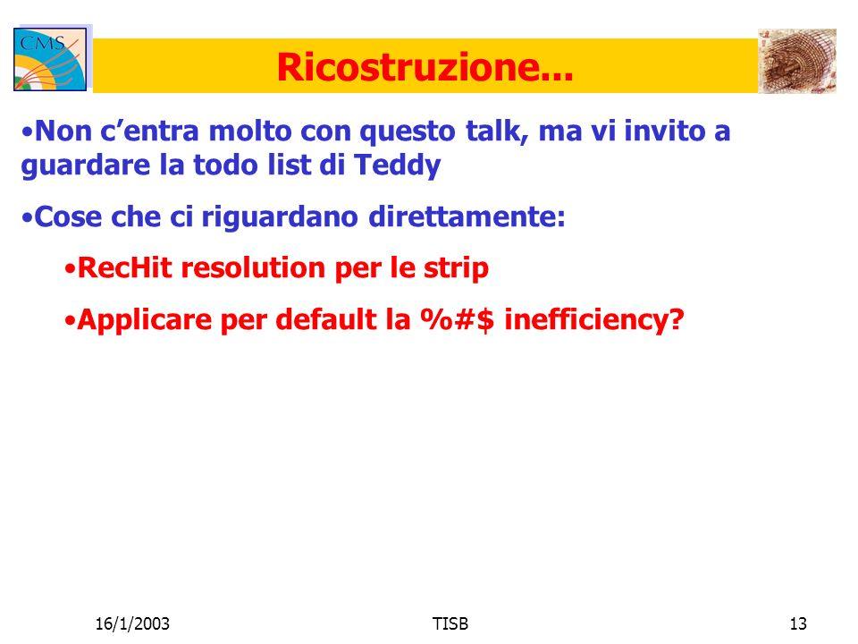 16/1/2003TISB13 Ricostruzione...
