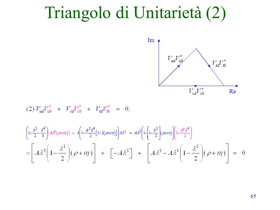 65 Im Re Triangolo di Unitarietà (2)
