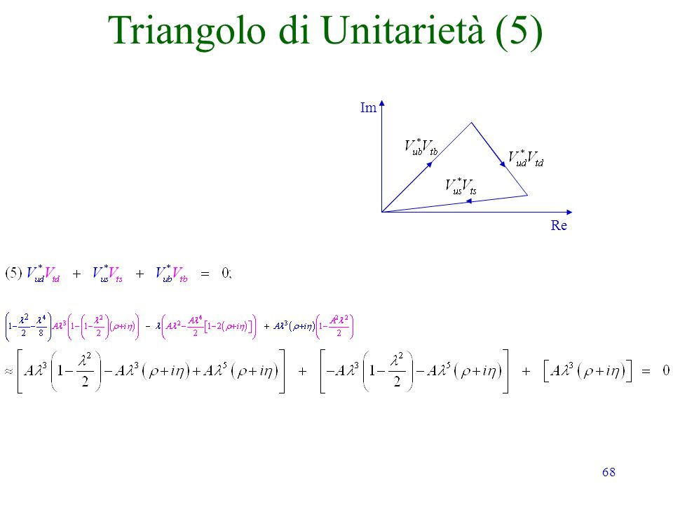 68 Im Re Triangolo di Unitarietà (5)