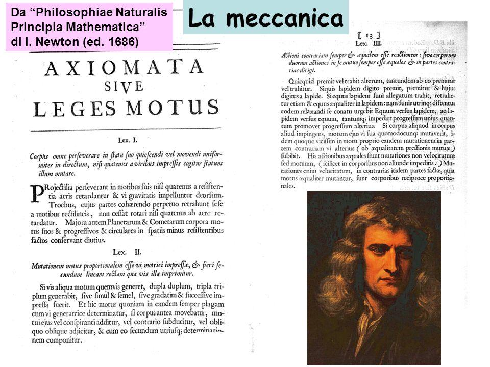 La meccanica Da Philosophiae Naturalis Principia Mathematica di I. Newton (ed. 1686)
