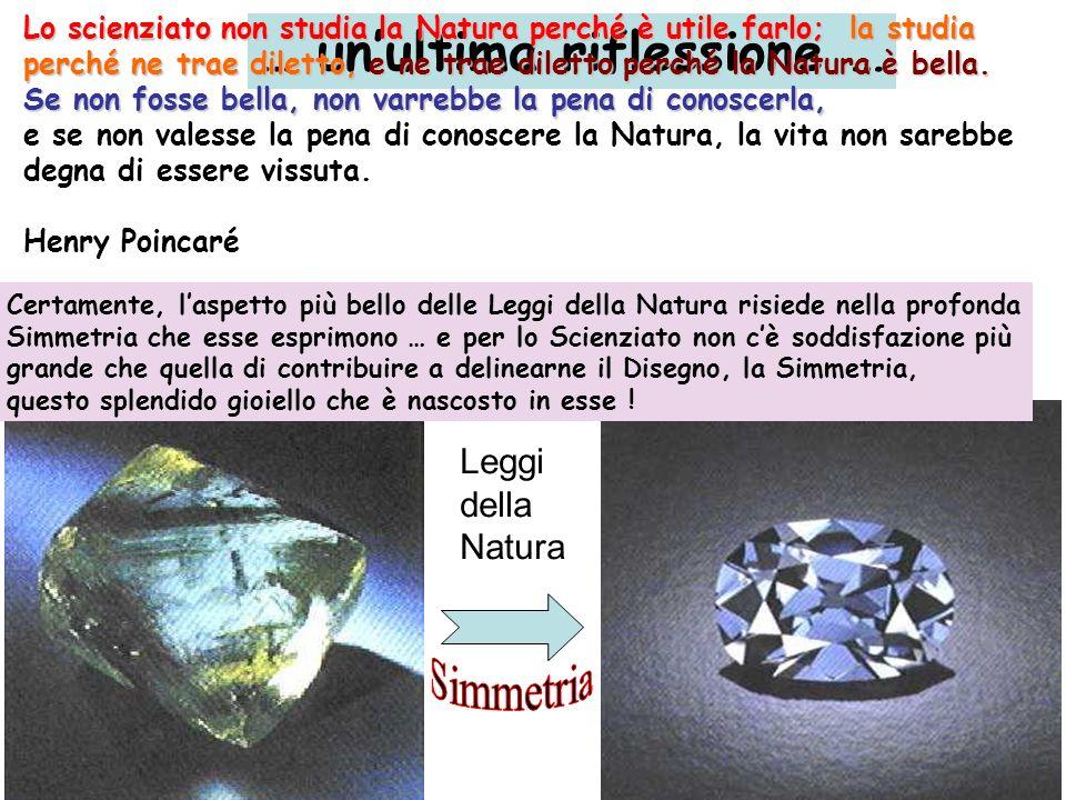 Leggi della Natura Certamente, laspetto più bello delle Leggi della Natura risiede nella profonda Simmetria che esse esprimono … e per lo Scienziato n
