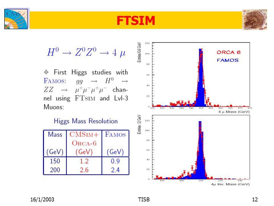 16/1/2003TISB12 FTSIM