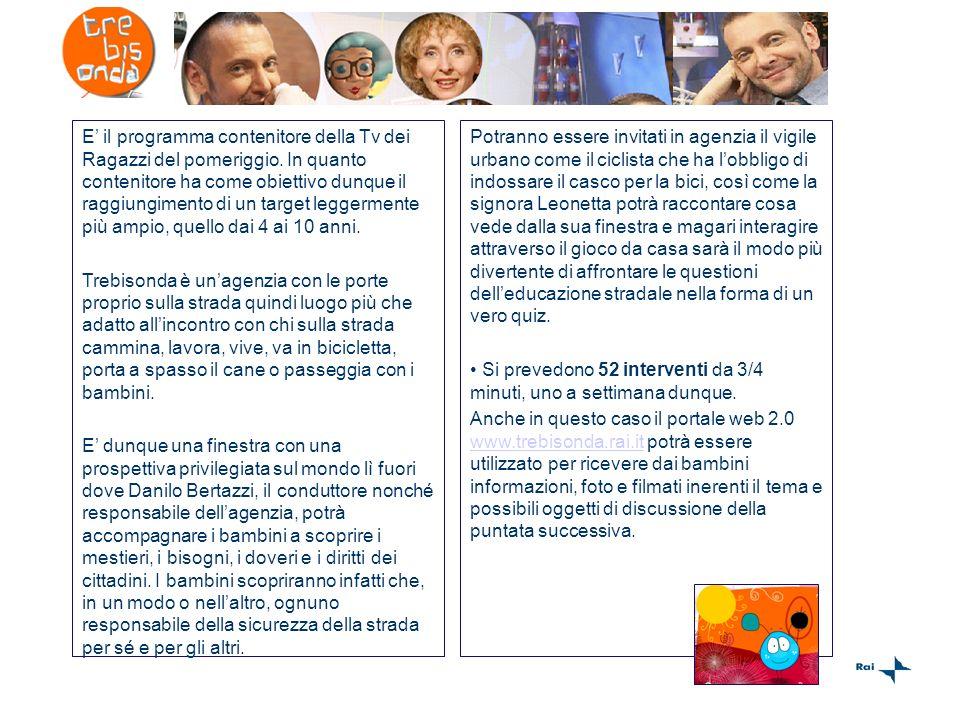 Notiziario per bambini e ragazzi in onda dal lunedì al venerdi alle 16.15 dentro Trebisonda.