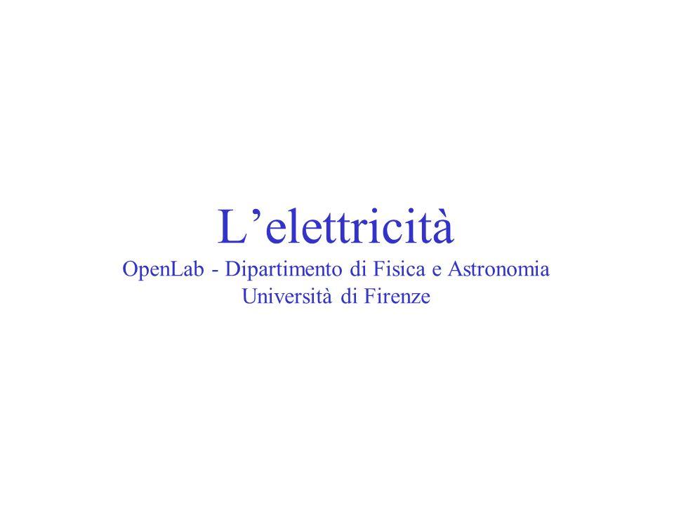 Lelettricità OpenLab - Dipartimento di Fisica e Astronomia Università di Firenze