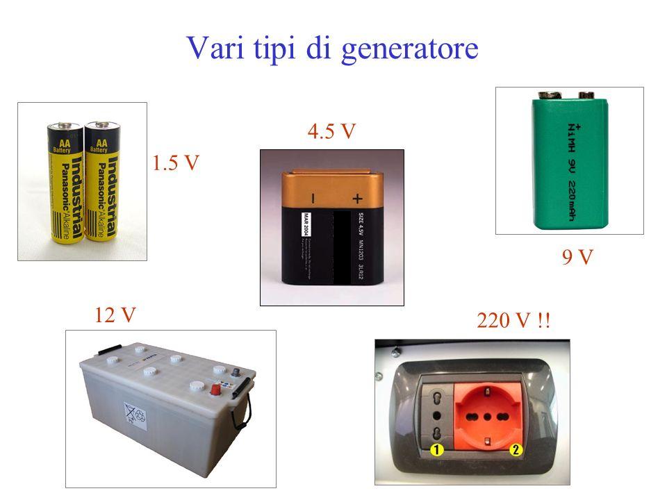 Vari tipi di generatore 1.5 V 4.5 V 9 V 12 V 220 V !!