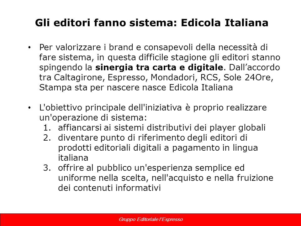 14 Gruppo Editoriale lEspresso Gli editori fanno sistema: Edicola Italiana Per valorizzare i brand e consapevoli della necessità di fare sistema, in q