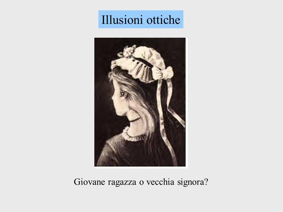 Illusioni ottiche Giovane ragazza o vecchia signora?