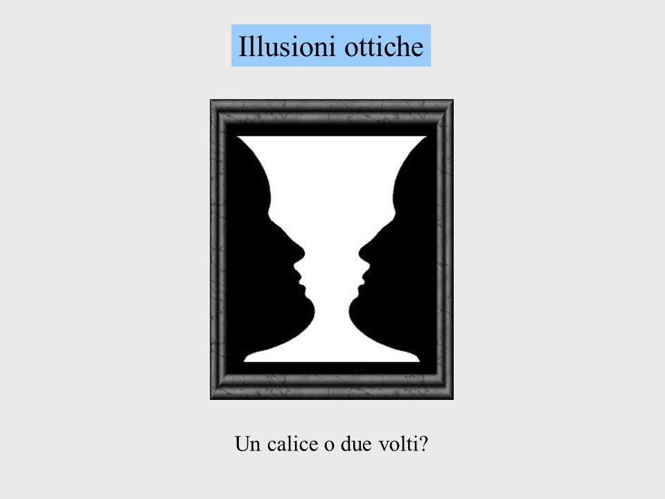Un calice o due volti? Illusioni ottiche
